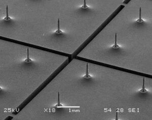 microneedles fabricated for life science applications using MEMS