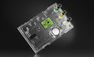 A photonic biosensor disposable cartridge with fluidics and photonic seonsor chip